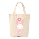 Don't ever mess with a cute rabbit - Tote Bag