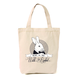 Dont mess with the rabbit totebag