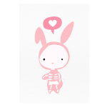 www.dontmesswiththerabbit.fr - Don't ever mess with a cute rabbit - Art Print