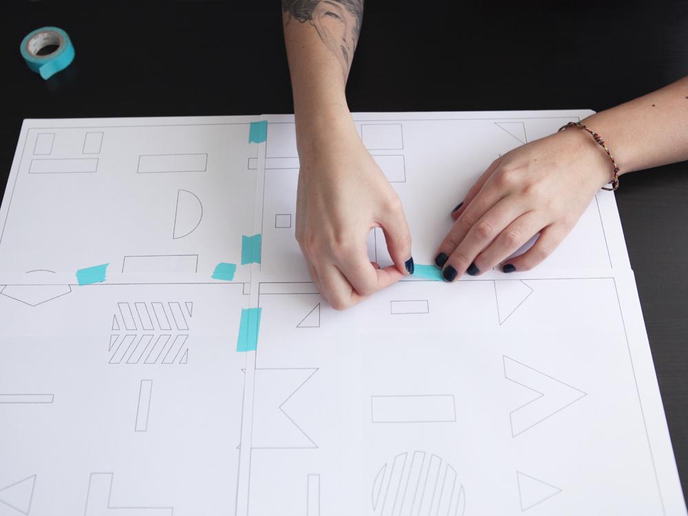 www.dontmesswiththerabbit.fr - Alphabet Geometrique - assembler pochoir