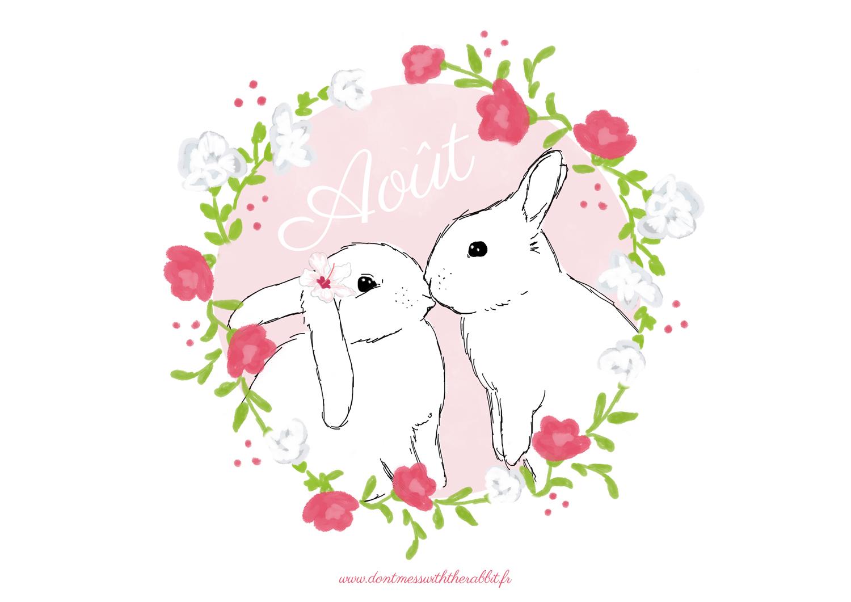 don 39 t mess with the rabbit le joli fond d cran calendrier d ao t. Black Bedroom Furniture Sets. Home Design Ideas