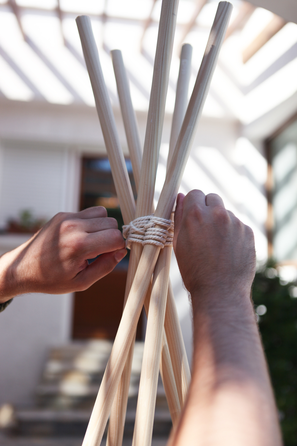 Don't mess with the rabbit - diy tipi teepee - nouer